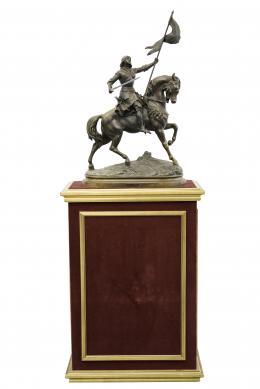 SIGUIENDO MODELOS DE AUGUST MOREAU, S.XX Juana de Arco a caballo