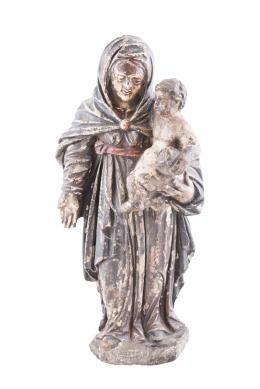 ESCUELA CASTELLANA, S.XVI Virgen con el Niño