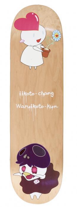TAKASHI MURAKAMI (Tokio, 1962) Skateboard. Iikoto-Chang. Warvikoto-Kun