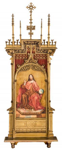 CRISTO BENDICIENDO, COPIA DEL ORIGINAL DE FERNANDO GALLEGO (1468 – 1507). Pintor salmantino