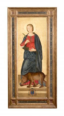 SANTA COLUMBA, COPIA DEL ORIGINAL DE ANTONIZZO ROMANO (1452 – 1508). Pintor italiano