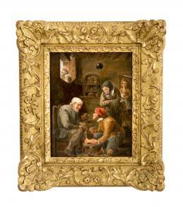 OPERACIÓN QUIRÚRGICA, COPIA DEL ORIGINAL DE DAVID TENIERS (1610 – 1690). Pintor flamenco