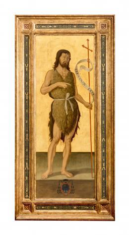 SAN JUAN BAUTISTA, COPIA DEL ORIGINAL DE ANTONIZZO ROMANO (1452 – 1508). Pintor italiano