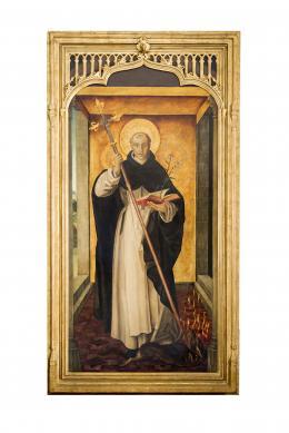 SANTO DOMINGO DE GUZMÁN, COPIA DEL ORIGINAL DE PEDRO DE BERRUGUETE (1445 – 1503). Pintor palentino