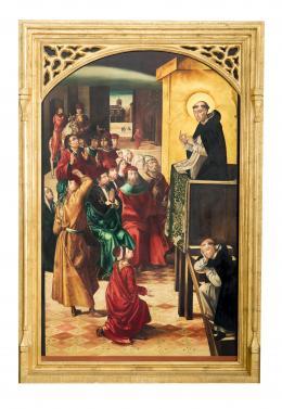 EL MILAGRO DE LA NUBE, COPIA DEL ORIGINAL DE PEDRO DE BERRUGUETE (1445 – 1503). Pintor palentino