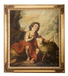 SAN JUAN BAUTISTA NIÑO, COPIA DEL ORIGINAL DE BARTOLOMÉ ESTEBAN MURILLO (1617 – 1682). Pintor sevillano