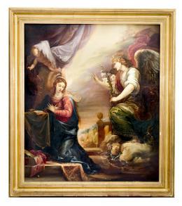 ANUNCIACIÓN, COPIA DEL ORIGINAL DE FRANCISCO RIZI (1614 – 1685). Pintor madrileño