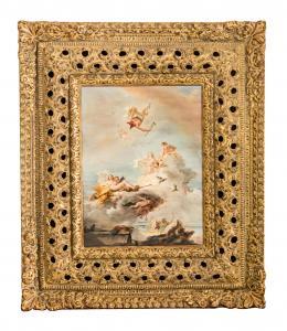 EL OLIMPO O TRIUNFO DE VENUS, COPIA DEL ORIGINAL DE GIAMBATTISTA TIEPOLO (1696 – 1770). Pintor italiano