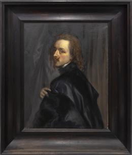 AUTORRETRATO, COPIA DEL ORIGINAL DE ANTON VAN DYCK (1599 – 1641). Pintor flamenco