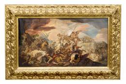 LA BATALLA DE CLAVIJO, COPIA DEL ORIGINAL DE CORRADO GIAQUINTO (1703 – 1766). Pintor italiano