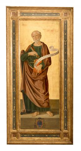 SAN PEDRO, COPIA DEL ORIGINAL DE ANTONIZZO ROMANO (1452 – 1508). Pintor italiano