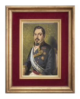 RAMÓN BORRELL Y PLÁ (1876 - 1963) Pintor barcelonés RETRATO MILITAR