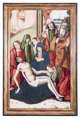 CIRCULO DE FERNANDO Y FRANCISCO GALLEGO (activos en Salamanca, 1500 - 1513) Llanto sobre Cristo muerto
