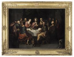 CÍRCULO DE JACOPO BASSANO. La última cena.