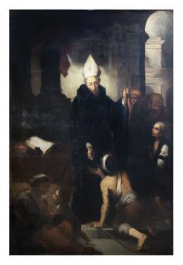 SANTO TOMÁS DE VILLANUEVA, COPIA DEL ORIGINAL DE MURILLO, S.XIX