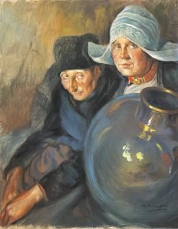 MANUEL BENEDITO (1875 - 1963) Pintor valenciano MATRIMONIO HOLANDES, 1930