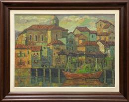 ABDON JUARISTI LEGORBURU (1948-1997) Pintor guipuzcoano ORIO, 1976