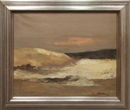 SOL GORBEA TORRE (1934 - 1995) Pintora bilbaína PAISAJE BLANCO, 1973