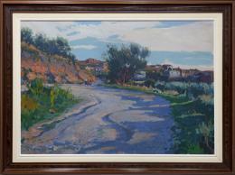 RAIMON ROCA RICART (1917-2013) Pintor barcelonés CAMI DE LES OLIVERES (CASTELLAR DEL VALLÈS), 1977