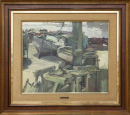 JOSEP SALA LLORENS (1928 - 2010) Pintor barcelonés PUERTO