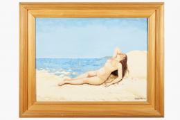 ISABEL VILLAR (1934) Pintora salmantina DESNUDO AL SOL, 1982
