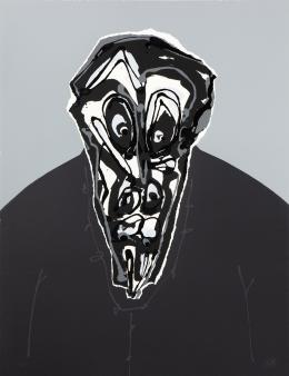 ANTONIO SAURA (1930 - 1998).Pintor aragonés DON III, 1984