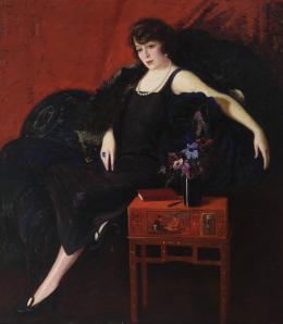 HUMBERTO GARAVITO (1897 - 1970). Pintor guatemalteco. RETRATO DE LA MARQUESA DE TORRELAVEGA, 1922