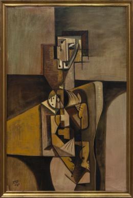 IGNACIO BERZOSA (1954) Pintor madrileño MATERNIDAD, 1983