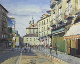SANTIAGO DÍAZ SANTOS (1940) Pintor madrileño CALLE DE SEGOVIA, MADRID