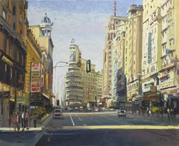 SANTIAGO DÍAZ SANTOS (1940) Pintor madrileño GRAN VÍA, MADRID