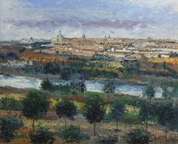 SANTIAGO DÍAZ SANTOS (1940) Pintor madrileño VISTA DE MADRID 1910