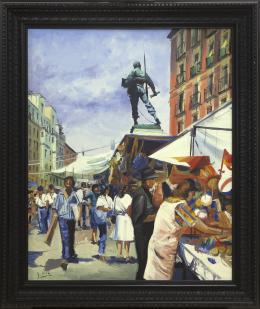 SANTIAGO DÍAZ SANTOS (1940) Pintor madrileño MONUMENTO A ELOY GONZALO, MADRID