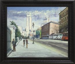 SANTIAGO DÍAZ SANTOS (1940) Pintor madrileño CALLE DE BAILÉN, MADRID