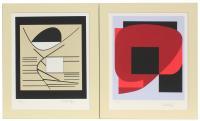"""VICTOR VASARELY (1906-1997). """"BALATON"""" y """"OLLA II"""", 1989."""