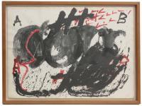 """ANTONI TÀPIES (1923-2012). """"ESPIRAL NEGRE I ROIG"""", 1976."""