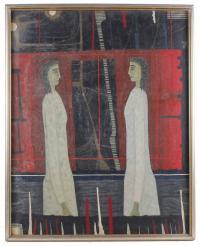 "JOAN BROTAT VILANOVA (1920-1990). ""DOS FIGURAS CARA A CARA""."