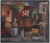 """AUGUSTO TORRES (1913-1992). """"VISTA URBANA"""", C. 1972."""
