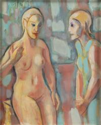 """PERE GASTÓ (1908-1997). """"FIGURAS"""", 1971."""