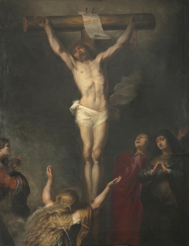 """TALLER O CÍRCULO DE ANTON VAN DYCK (1599-1641). """"CRUCIFIXIÓ"""