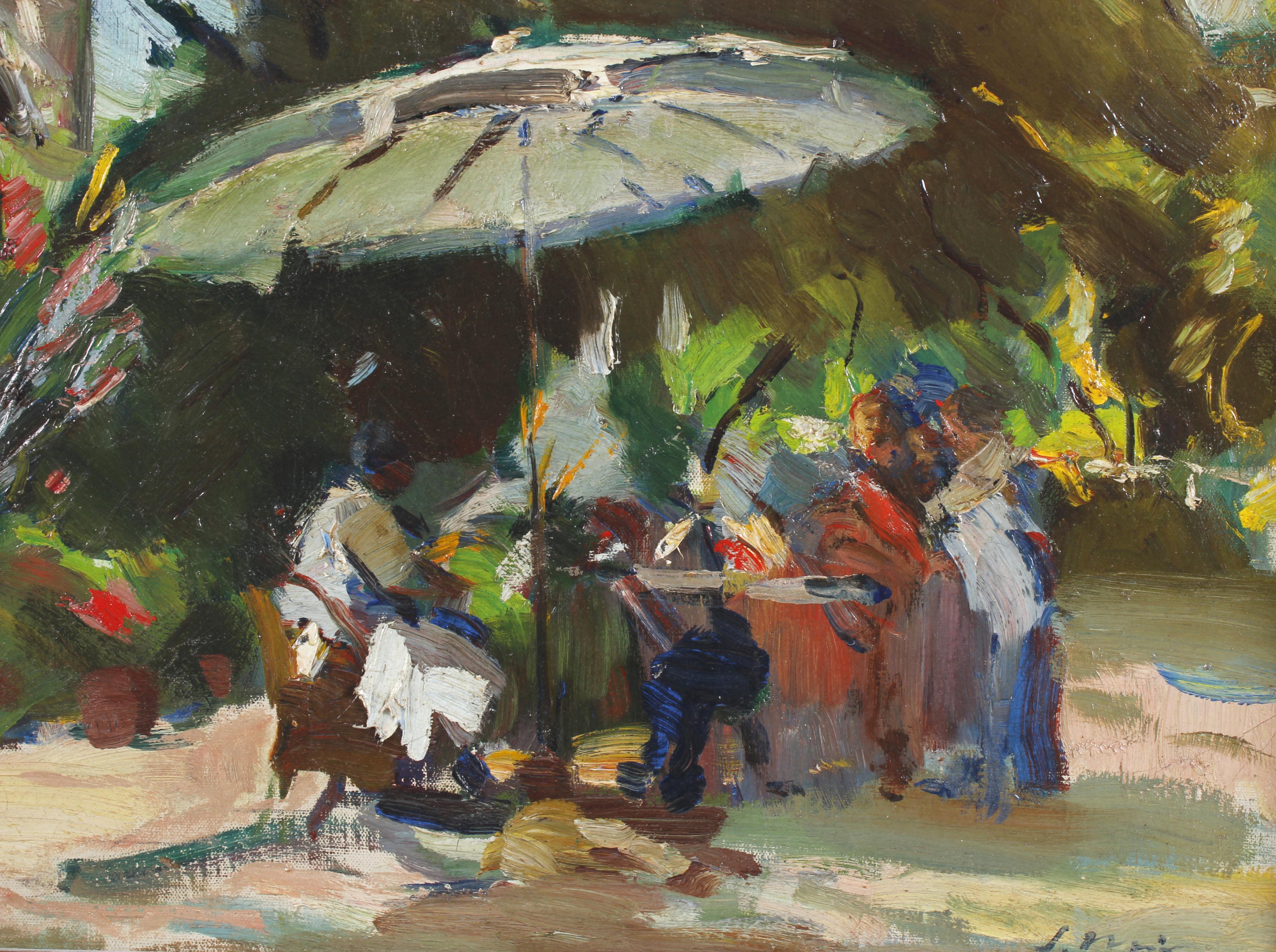 """JOAQUIM MIR I TRINXET (1873-1940). """"EL PARASOL""""."""
