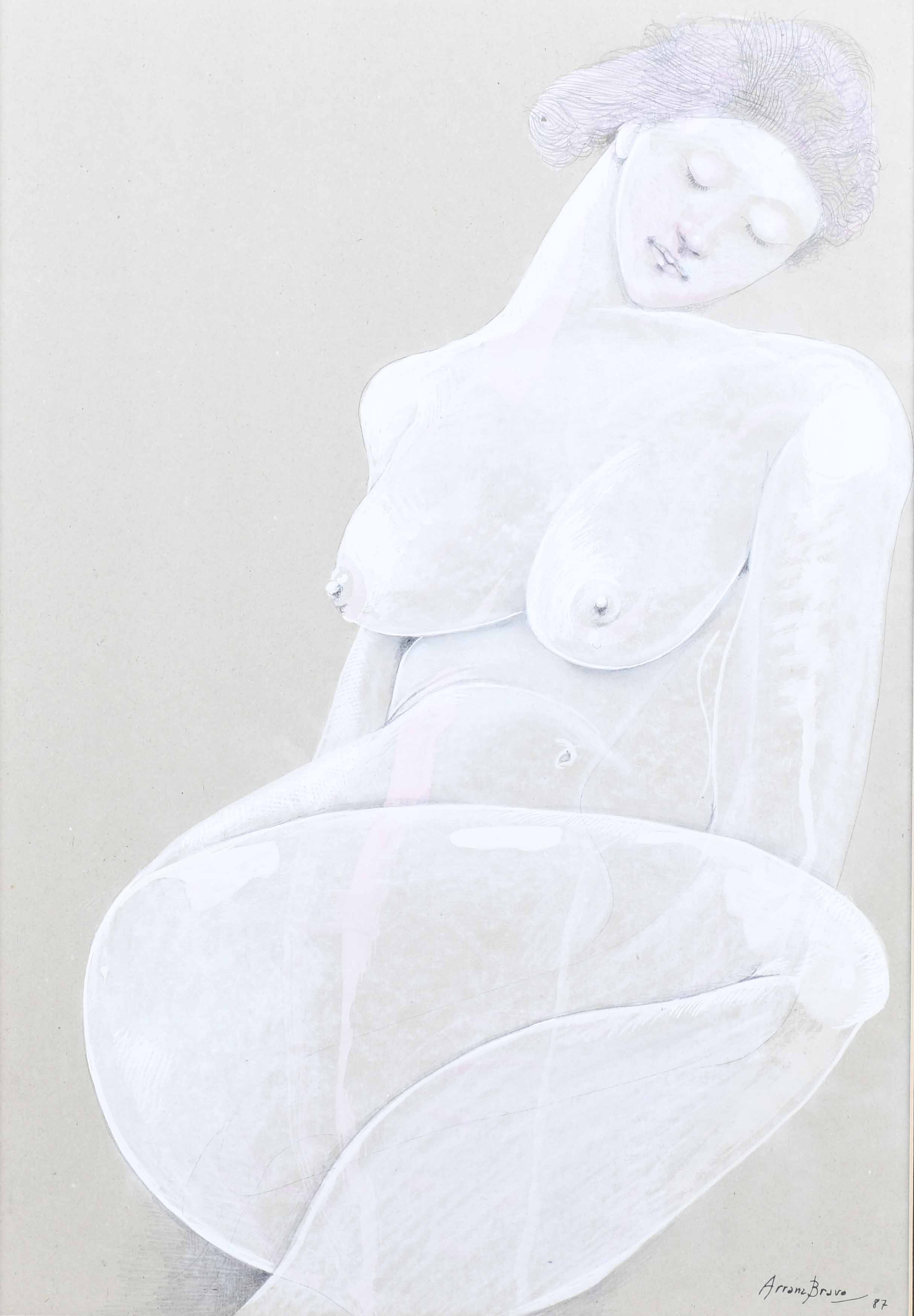 "EDUARD ARRANZ-BRAVO (1941) ""DESNUDO FEMENINO"", 1987."